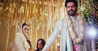 Varun Dhawan weds Natasha Dalal